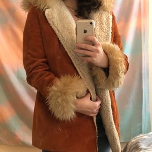 ALMOST FAMOUS furry vintage jacket